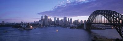 Opera House and Harbour Bridge, Sydney, Nsw, Australia Photographic Print by Peter Adams