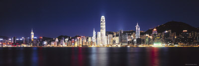 Hong Kong Skyline from Kowloon, China Photographic Print by James Montgomery Flagg