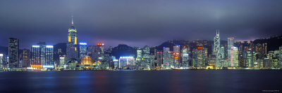Hong Kong Skyline from Kowloon, China Photographic Print