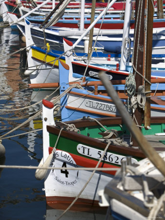 Boats in Harbour, St.Tropez, Cote d'Azur, France Photographic Print by Doug Pearson