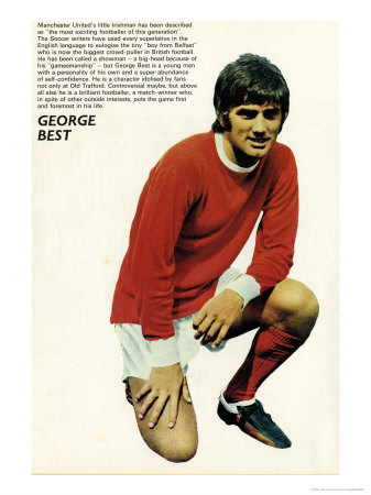 1960's George Best Art Print