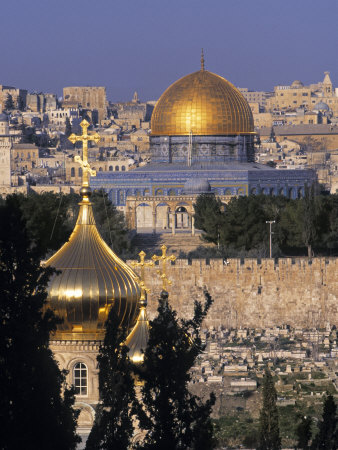 Dome of the Rock, Temple Mount, Jerusalem, Israel Fotografie-Druck