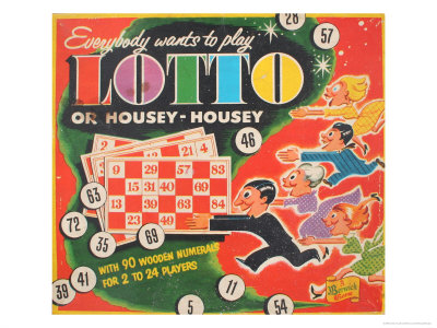 Lotto or Housey Housey Game Art Print