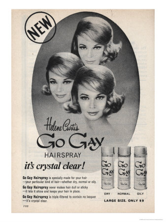 Go Gay Hair Spray Kunstdruck