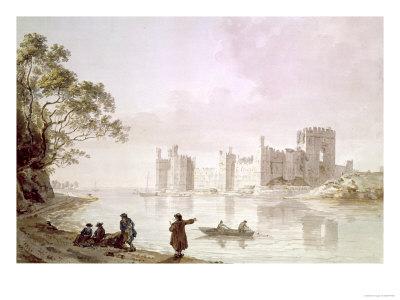 Caernarvon Castle, 18th Century Giclée-tryk