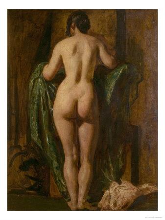 Nude Female Figure Giclee Print