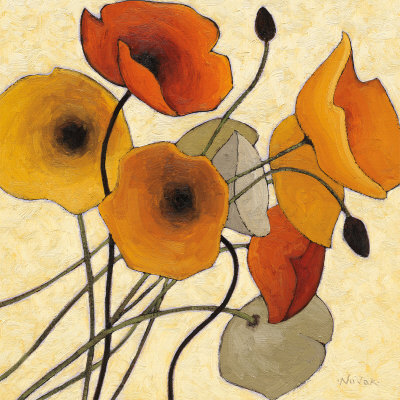 Pumpkin Poppies II Reproduction d'art