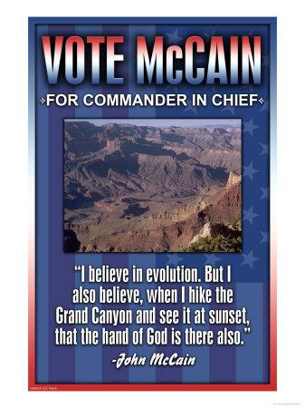 McCain on Evolution Prints