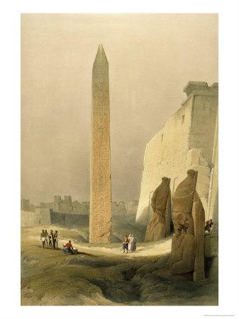 Obelisk at Luxor Giclee Print by David Roberts