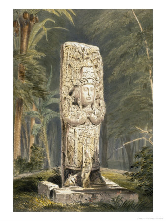 Idol at Copan Giclee Print by Frederick Catherwood