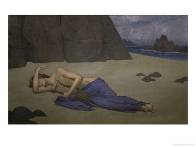 Lamentations of Orpheus Giclee Print by Alexandre Séon