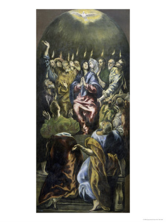 Pentecost, c.1600 Giclee Print by  El Greco
