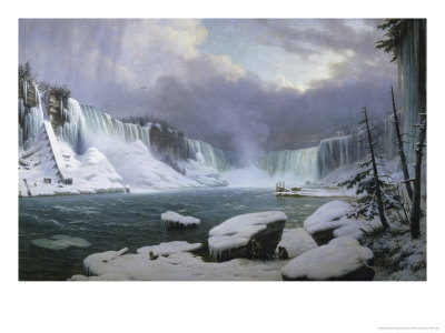 Great Cataract at Niagara Giclee Print by Hippolyte Victor Valentin Sebron