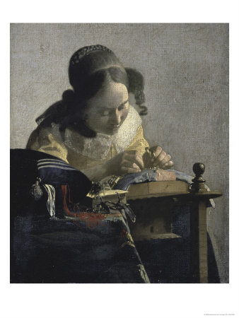 The Lacemaker, 17th century Giclee Print by Jan Vermeer