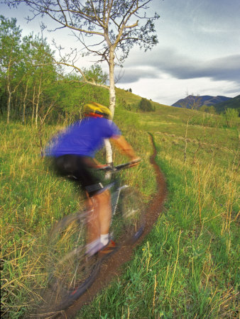 Mountain Biking in the Highwood Mountains, Montana Photographic Print by Chuck Haney