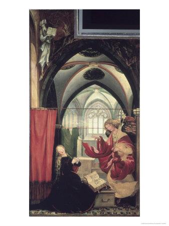The Isenheim Altarpiece, Annunciation Giclee Print by Matthias Grünewald