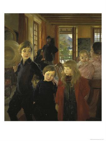 Une Famille Ou La Famille de L'Artiste Giclee Print by Albert Besnard