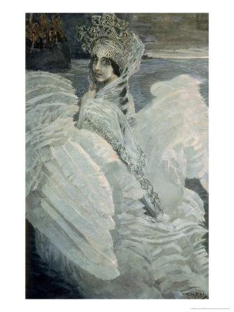 The Queen of the Swans Giclée-Druck von Mikhail Aleksandrovich Vrubel