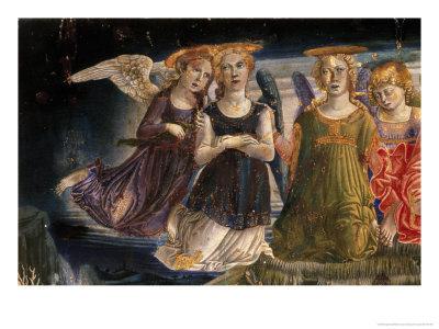 Detail of the Nativity Angel Giclee Print by Benvenuto Di Giovanni Guasta