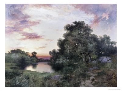 Sunset Giclee Print by Thomas Moran