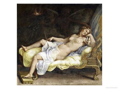 Dream of Ecuba Giclee Print by Giulio Romano