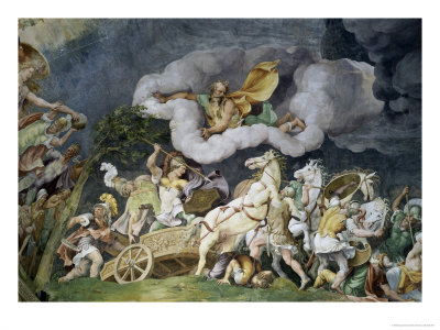 Diomede Uccide Tideo Giclee Print by Giulio Romano