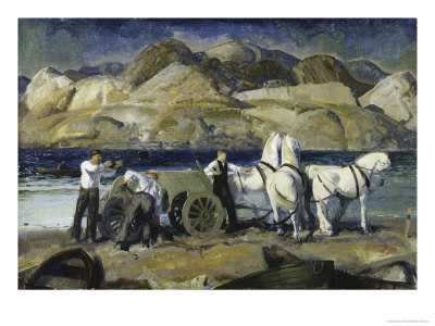 Sand Team, c.1917 Giclee Print by George Bellows