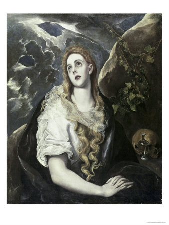 Saint Mary Magdalene in Penitence Giclee Print by  El Greco