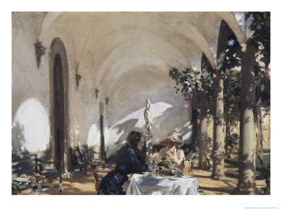 Breakfast in the Loggia Giclee Print by John Singer Sargent