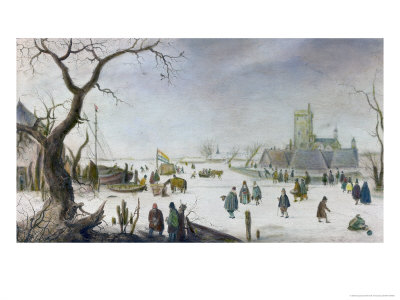 Winter Pleasure Giclee Print by Hendrik Avercamp