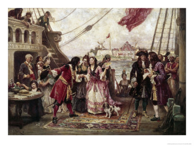 Captain William Kidd in New York Harbor Giclee Print by Jean Leon Gerome Ferris