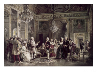 John Paul Jones and Benjamin Franklin at Louis XVI's Court Giclee Print by Jean Leon Gerome Ferris