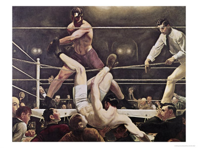 Dempsey and Firpo Giclee Print by George Bellows