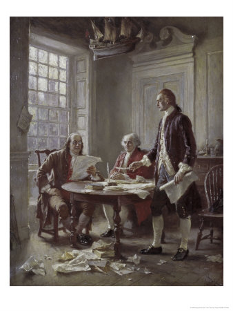 Drafting the Declaration of Independence Giclee Print by Jean Leon Gerome Ferris
