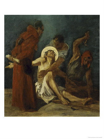 Jesus is Nailed to the Cross 11th Station of the Cross Giclee Print by Martin Feuerstein