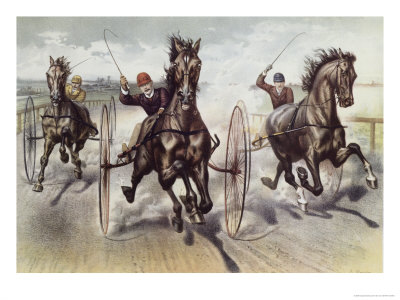 Race For Blood Giclee Print by  Currier & Ives