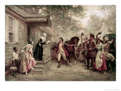 News of Yorktown, Brought to Washington's Mother Giclee Print by Jean Leon Gerome Ferris