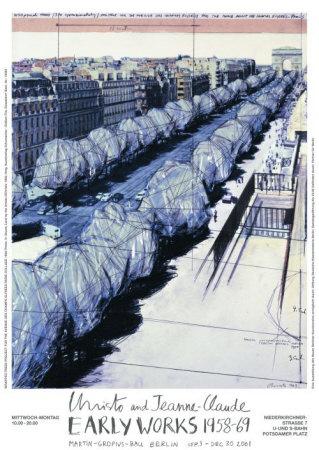 Wrapped Trees, Paris, c.1969 Kunst af  Christo