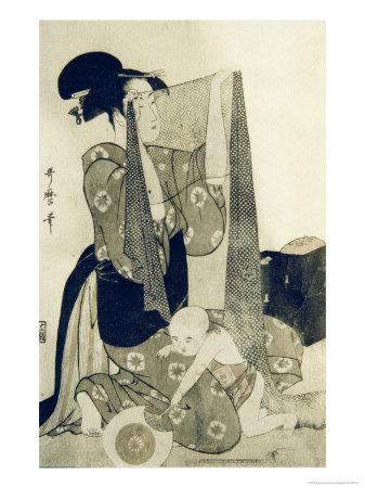 Mother and Child Giclee Print by Kitagawa Utamaro