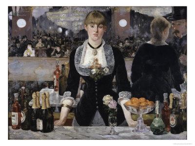 Bar at the Folies, Bergeres Giclee Print by Édouard Manet