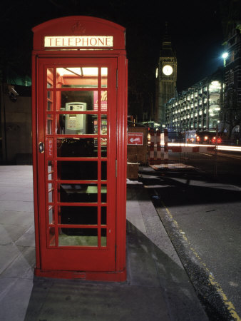 Telephone Booth, London, England Photographic Print by Dan Gair at
