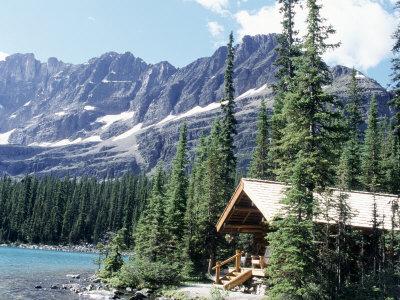 Cabin Near Lake O'Hara, Banff National Park, Alberta, Canada Photographic