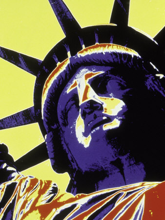 Abstract of Statue of Liberty, NYC Photographic Print by Whitney & Irma Sevin