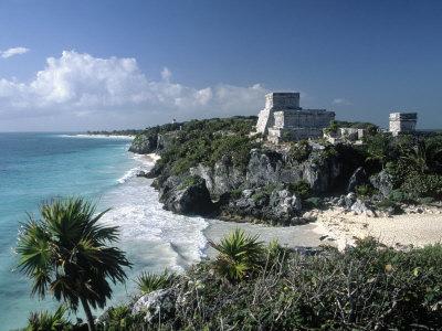 El Castillo, Tulum, Yucatan, Mexico Photographic Print