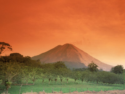 Arenal Volcano, Arenal, Costa Rica Photographic Print at AllPosters.com