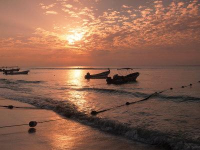 Playa Del Carmen Beach, Yucatan, Mexico Photographic Print by Walter Bibikow