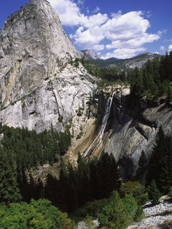 Nevada Fall and Half Dome, Yomite National Park, CA Photographic Print by Leslie Harris