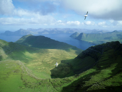 View from Slaettaratindur, Faroe Islands travel destinations 2015 photo poster by Richard Packwood