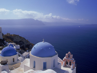 Greek Church Santorini Greece Photographic Print
