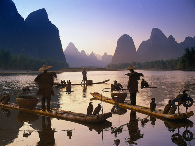 Cormorant, Fisherman, China Photographic Print